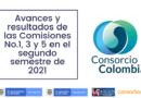 Avances y resultados de las Comisiones No.1, 3 y 5 en el segundo semestre de 2021